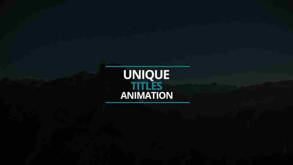 一个非常简洁优雅的Premiere标题文字介绍模板