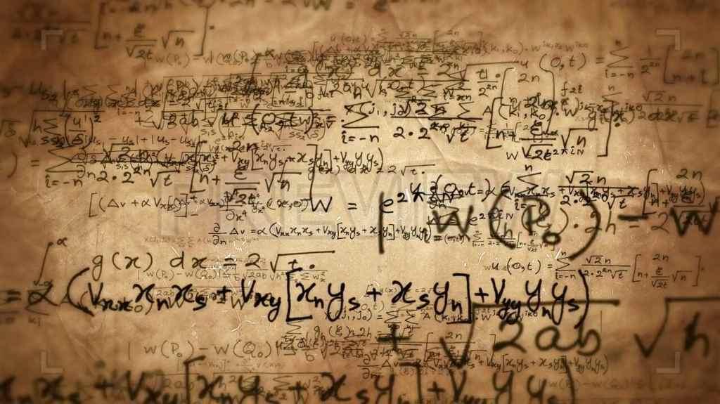 草稿视频素材 科学家数学家手稿手绘纸背景视频素材