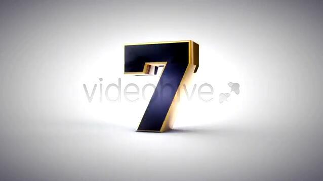 倒计时视频素材 3D旋转黑金大气开场倒计时视频素材