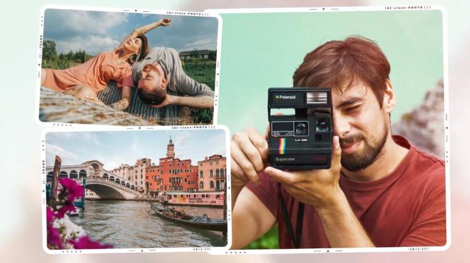 PR电子相册模板 婚纱旅拍家庭旅游Vlog照片多画面展示模板