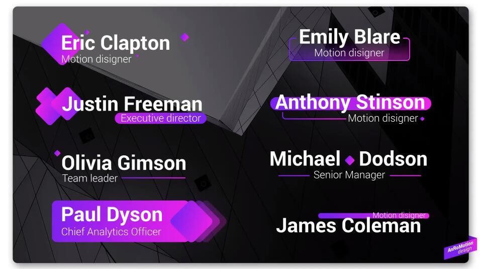 PR动态字幕动画模板 紫色大气PR基本图形Mogrt字幕条模板