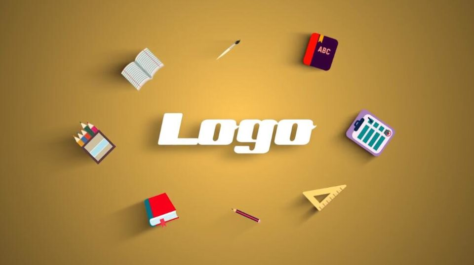 PR片头模板免费下载 学校幼儿园幼教辅导班标志LOGO展示模板免费下载