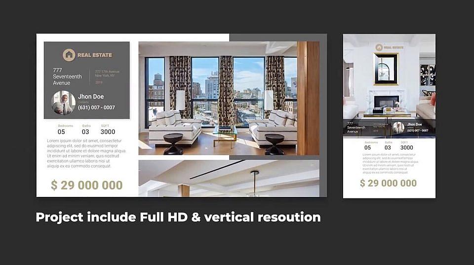 PR企业宣传视频模板+手机竖版格式 高端大气酒店公寓别墅餐厅商务写字楼宣传视频模板