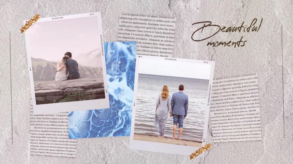 PR婚礼幻灯片模板 婚纱照片恋爱日记婚礼现场展示模板