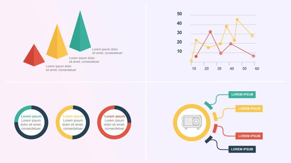 PR幻灯片视频模板 数据分析统计信息图表元素动画模板(MOGRT)下载